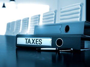 Folder of business taxes